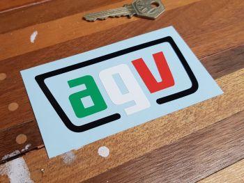 """AGV Helmets Tri-Colour Cut Vinyl Sticker 4"""""""