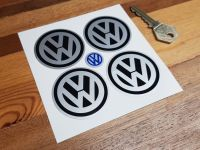 VW Volkswagen Wheel Centre Stickers - 50mm or 70mm