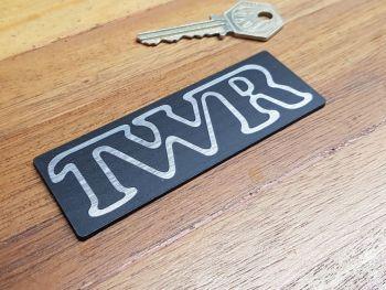 "TWR Oblong Self Adhesive Car Badge 4"""