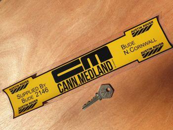 "Austin Rover Cann.Medland CORNWALL Dealer Sticker 12"""
