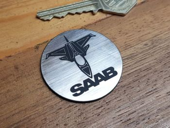 Saab Aero Circular Self Adhesive Car Badge 44mm