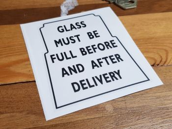Glass Must Be Full Black & Clear Sticker 4""