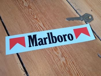 "Marlboro Text & Chevrons Cut Vinyl Stickers 6.75"" Pair"