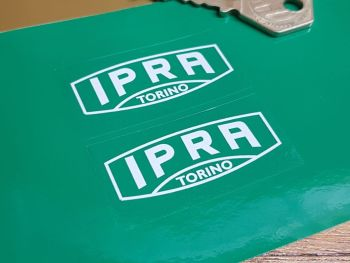 "IPRA Torino White & Clear Oblong Stickers 2"" Pair"