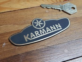 Karmann Logo Black & Gold Self Adhesive Car Badge 4""