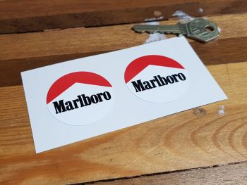 Marlboro Circular Stickers 42mm Pair