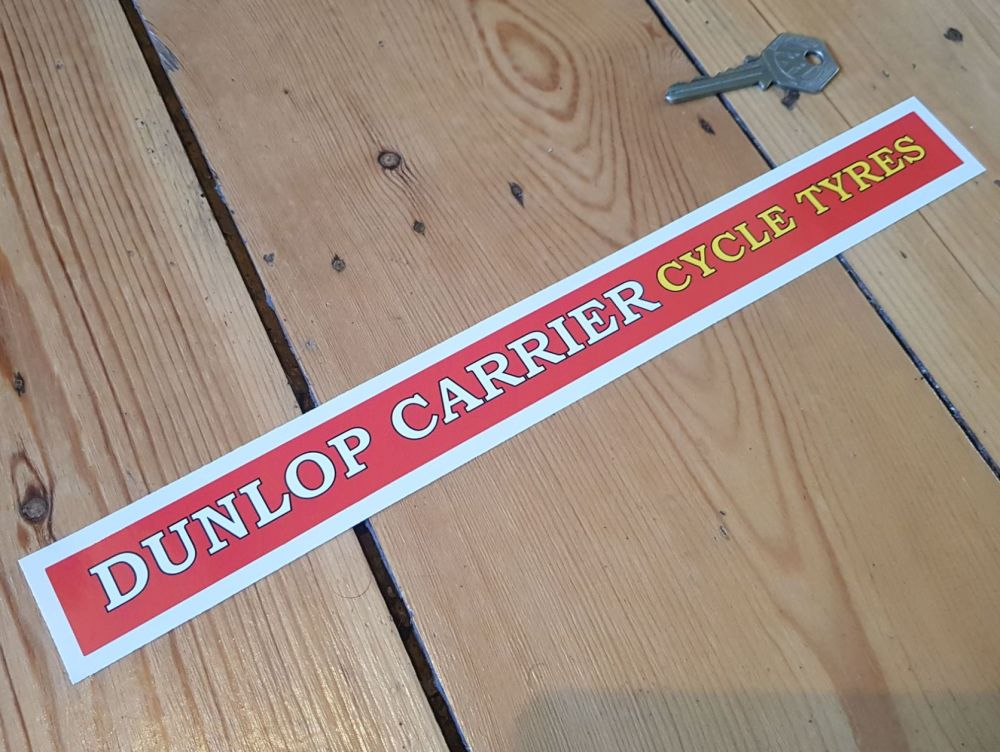 Dunlop Carrier Cycle Tyres Shelf Edge Sticker 12