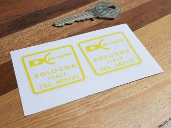 DC Da Corte Bolgna Italy Stickers 42mm Pair