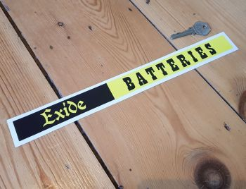 Exide Batteries Shelf Edge Sticker 12""