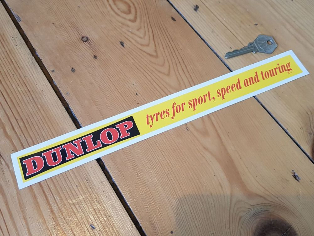 Dunlop Tyres for Sport, Speed and Touring Shelf Edge Sticker 12