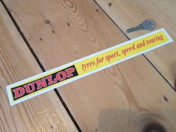 Dunlop Tyres for Sport, Speed and Touring Shelf Edge Sticker 12""
