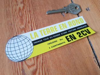 """Citroen 2CV First Round the World Celebration Window Sticker 5.25"""""""