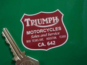 "Motorcycle Sales & Service Houston Texas Dealer Sticker 2"""