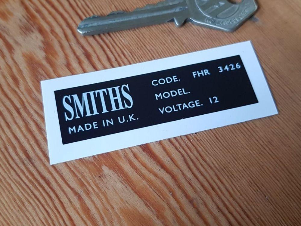 Smiths Heater Label FHR 3426 Sticker 62mm