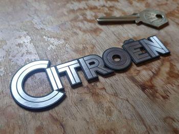"Citroen Art Deco Text Style Self Adhesive Car Badge 4.5"""