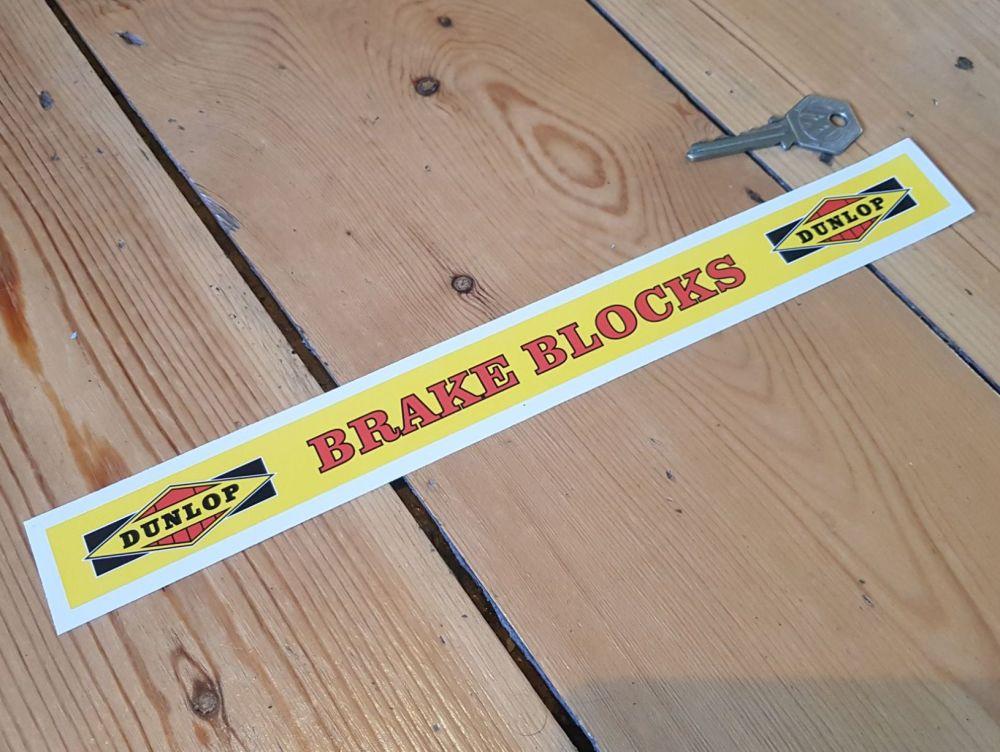 Dunlop Brake Blocks Shelf Edge Sticker 12