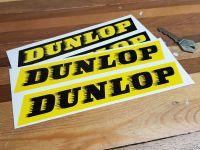 "Dunlop 'Speed-Straked' Yellow & Black Stickers 7"" Pair"