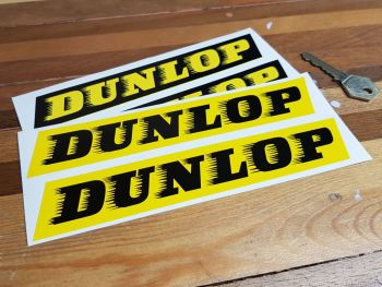 "Dunlop 'Speed-Straked' Yellow & Black Stickers 7"" Pair"