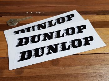 "Dunlop 'Speed-Straked' Stickers. 7"" Pair."