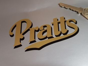 "Pratt's Black Shadow Cut Vinyl Sticker. 4"", 6"", 8"" or 12""."