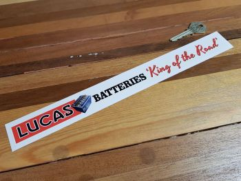 Lucas Batteries Shelf Edge Sticker 12""