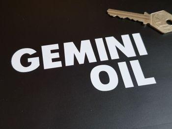 """Shell Gemini Oil Cut Text Sticker 4.5"""""""