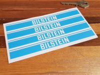 Bilstein Shock Absorbers Blue & Clear Oblong Stickers - Set of 4 - 6