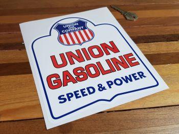 """Union Oil Gasoline Speed & Power Sticker 8"""""""