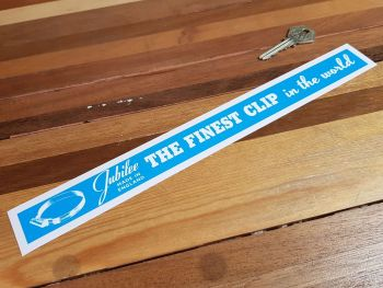 Jubilee Clip Shelf Edge Sticker 12""