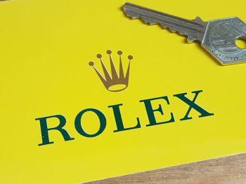"Rolex Sponsors Coloured Cut Vinyl Stickers 2.75"" Pair"