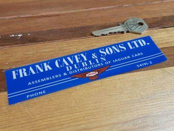 "Frank Cavey & Sons Jaguar Dealer Window Sticker 6"""