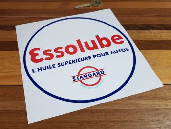 "Essolube Oil Circular Sticker 7.5"""