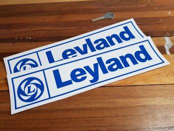 "British Leyland L Oblong Stickers. 12"" Pair."