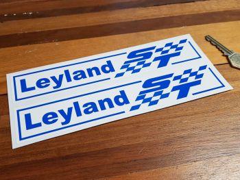 "British Leyland ST Blue & White Stickers. 8.5"" Pair."