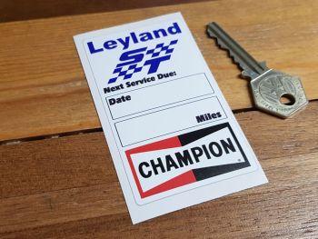 """British Leyland ST & Champion Servce Sticker. 3.5""""."""