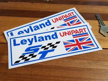 """British Leyland ST Unipart UJ Stickers. 6"""" Pair."""