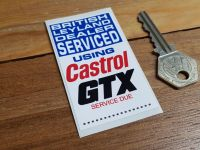"Castrol GTX 'British Leyland Dealer Serviced' Service Sticker. 3""."