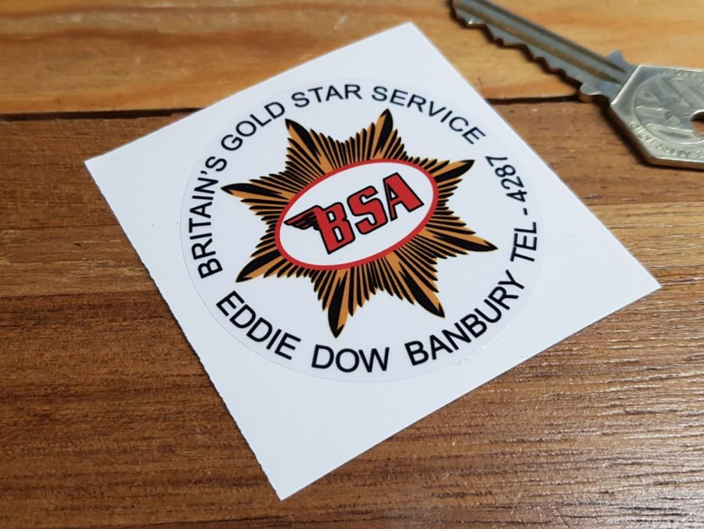 BSA Britains Gold Star Service Sticker. 2.5