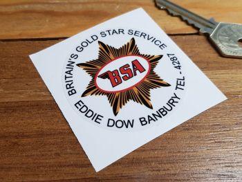 """BSA Britains Gold Star Service Sticker. 2.5""""."""