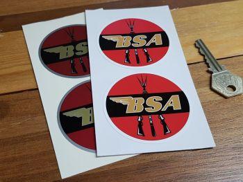 """BSA Circular Piled Arms Stickers. 2.5"""" Pair."""