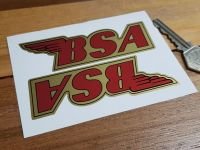 BSA Shaped Red & Gold Stickers. 4
