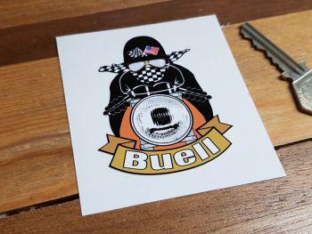 "Buell Cafe Racer Sticker. 3""."