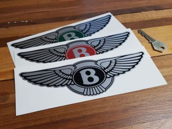 "Bentley Winged Logo Stickers. 2.75"", 4"" or 8"" Pair"