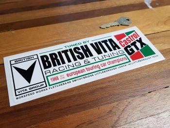 "Tuned by British Vita - Castrol GTX Sticker. 8.5""."