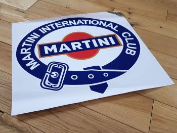 Martini International Club Belted Logo with Gold Sticker 15.75""