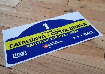"Rallye De Espana 1996 #1 Rally Plate Style Sticker 16"""