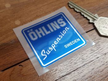 Ohlins Suspension Blue & Foil Sticker 2""