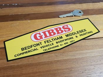 """Gibbs Bedfont Feltham Middlesex Garage Window Sticker 8"""""""