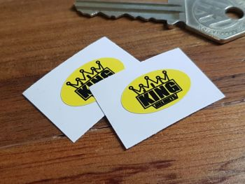 KING Helmets Oval Stickers 23mm Pair