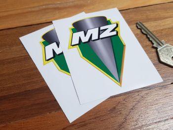 """MZ Shield Logo Stickers 3.5"""""""